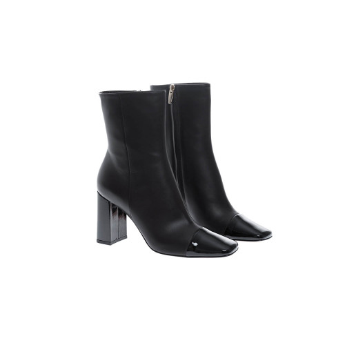 Achat Leather boots with patent black toe 85 - Jacques-loup