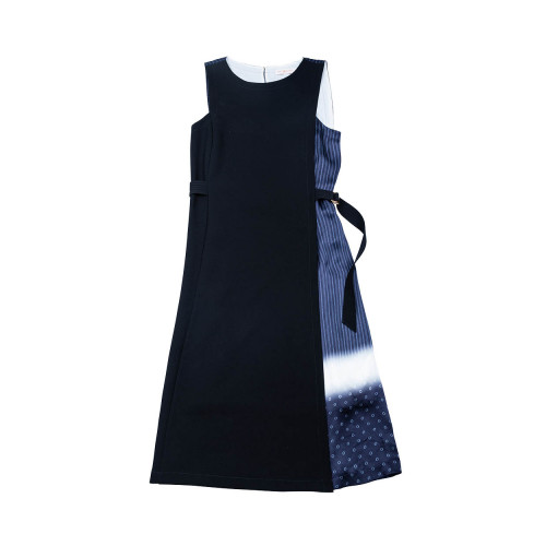 Achat Sleeveless dress in silk and crepe tissu - Jacques-loup