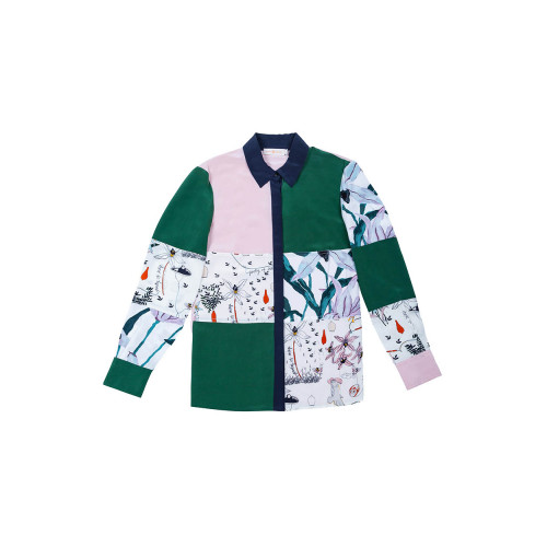 Achat Silk shirt tissue patchwork - Jacques-loup
