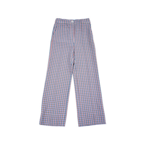 Straight cut trousers with pleats