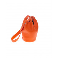 """Diana S"" Leather bucket bag with 2 handles"