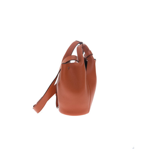 """Diana D"" Leather bucket bag with 2 handles"