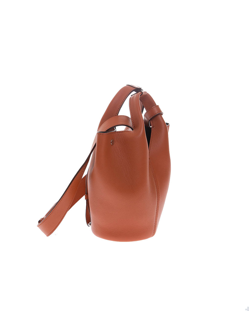 """""""Diana D"""" Leather bucket bag with 2 handles"""