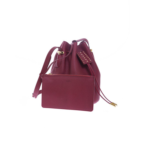 Leather Micro bucket bag...