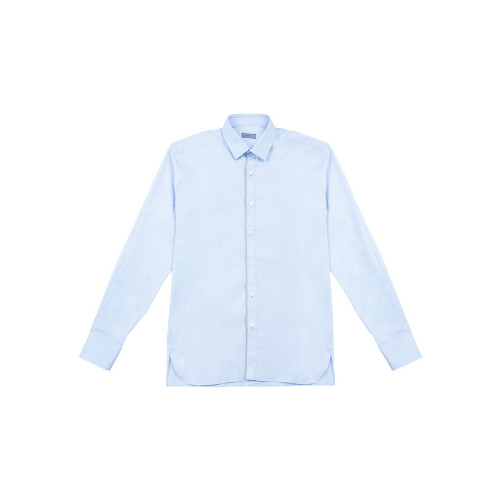 Cotton shirt with grey piping
