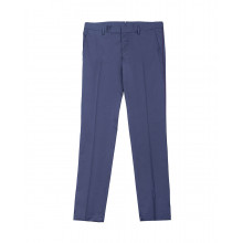 Cotton trousers with bordeaux strip