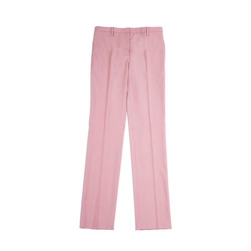Straight light pink trousers N°21 for women
