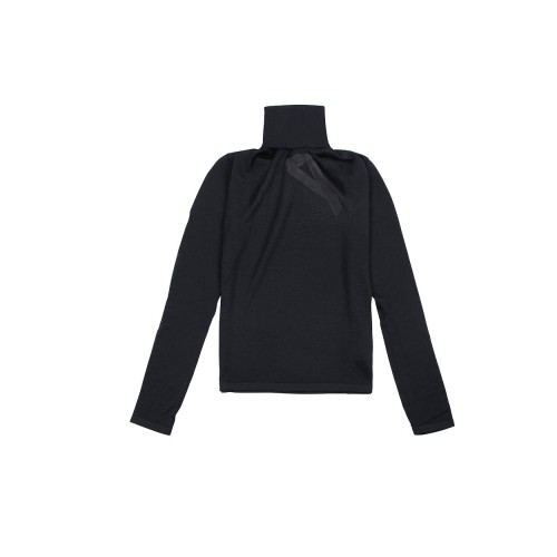 Black turtleneck sweater N°21 for women
