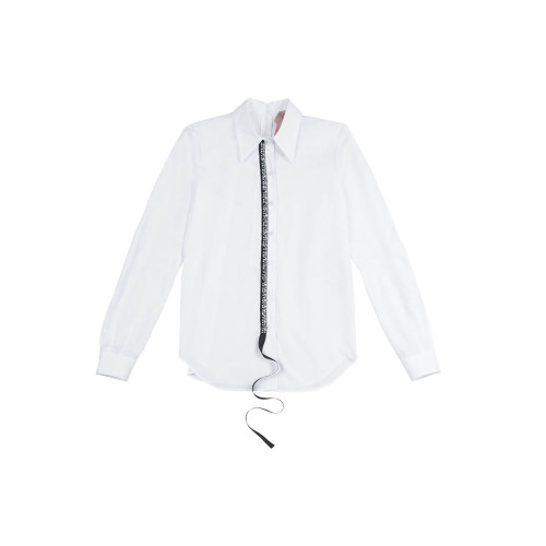 Achat Long-sleeved black and white blouse N°21 for women - Jacques-loup