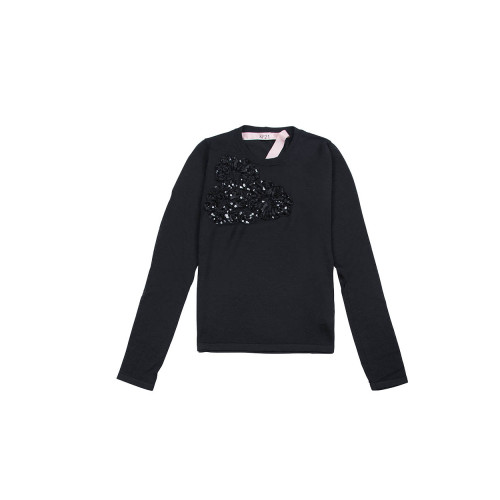 Achat Wool sweater with ribbons and sequins - Jacques-loup
