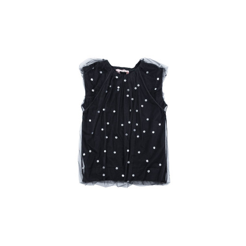 Sleeveless black sweater N°21 for women