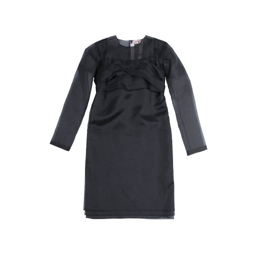Achat Silk draped dress with large bow - Jacques-loup