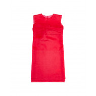 Sleeveless red draped dress N°21 for women