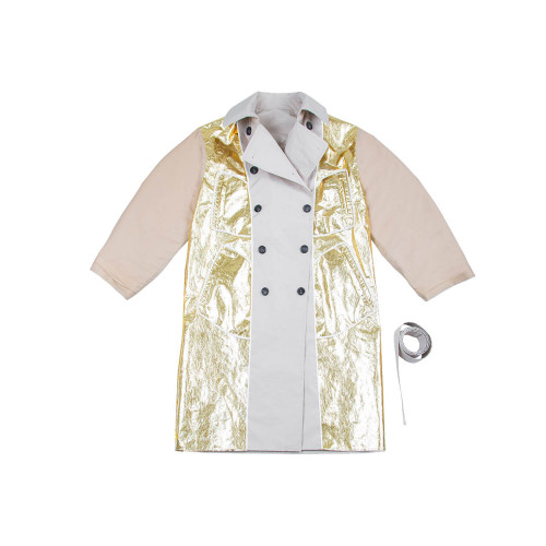 Reversible beige and gold trench coat N°21 for women