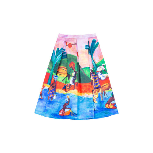 Achat Pleated skirt with Gauguin... - Jacques-loup