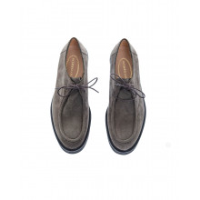 Natural leather derbys 2 holes lacing