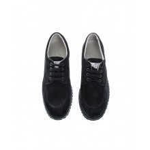 """New Traditionnal"" Split leather low-top sneakers with laces"