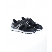 """"""" Running 261"""" Leather sneakers with python print"""