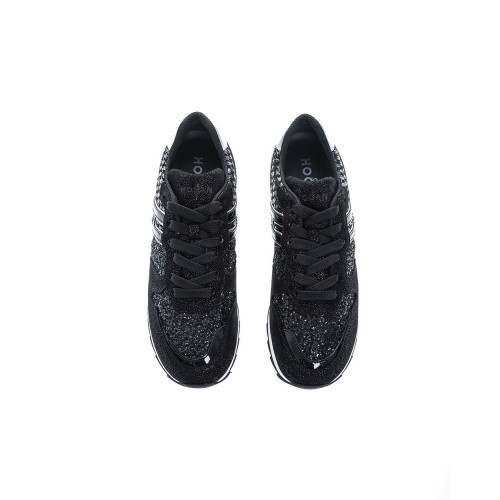 """ Running 261"" Leather low-top sneakers with glitter"