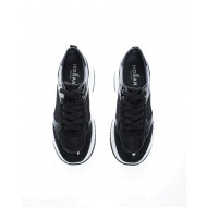 """Maxi I Active"" Tissu and leather sneakers with patent parts"