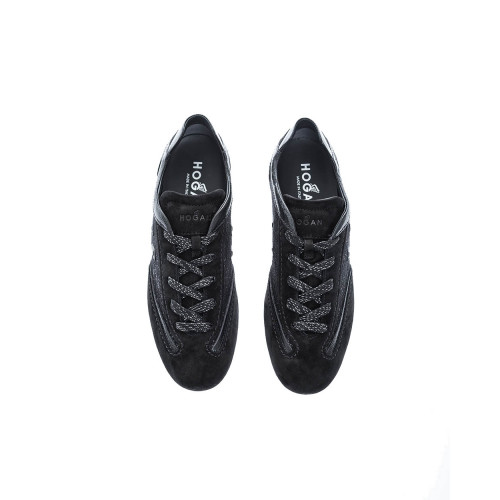 Achat Olympia Leather and tweed low-top sneakers - Jacques-loup
