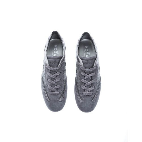 Achat Olympia Leather and tweed sneakers embossed logo - Jacques-loup