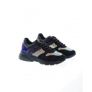 """Active One"" Patent leather sneakers with multicolored flakes"