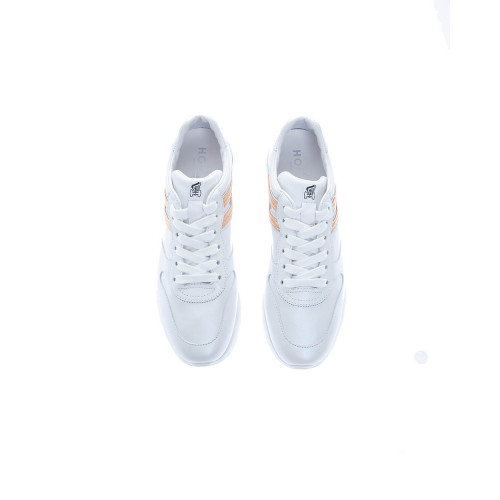 """Active One"" Leather low-top sneakers embossed logo"