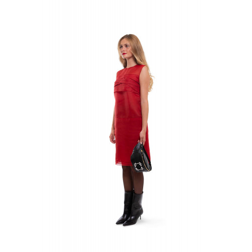 Achat Silk draped dress with bow on the back - Jacques-loup