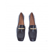 Achat Leather moccasins with gold metal clip - Jacques-loup
