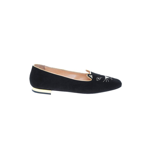 Achat Velvet ballerinas with Little Cat embroidery - Jacques-loup