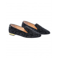 Achat Velvet slip-ons/moccasins with leopard print - Jacques-loup
