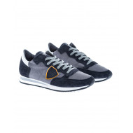 """Tropez"" Two-material sneakers bordered escutcheon"