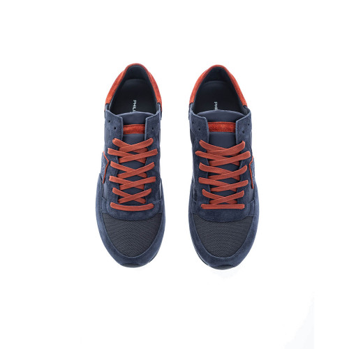 """Tropez Lu"" Split leather sneakers escutcheon rusty border"