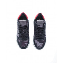 """Tropez X"" Two-material sneakers camouflage print"