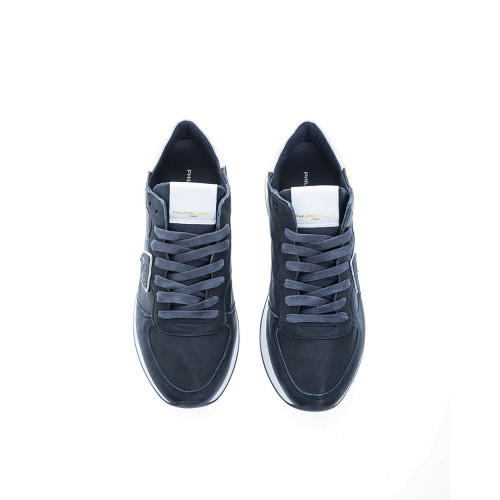 """Tropez X"" Two-material sneakers escutcheon with white border"