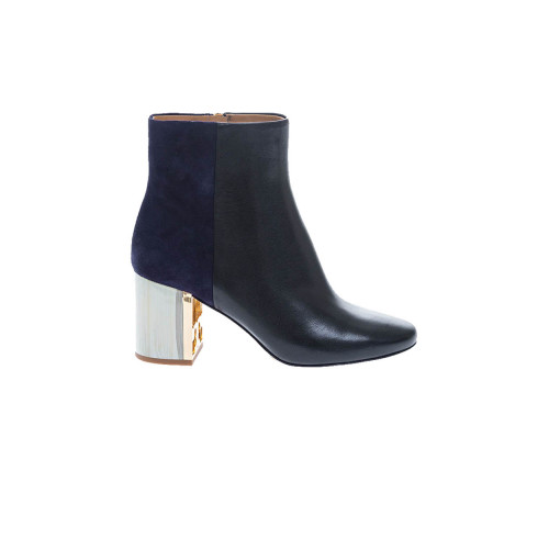 """Gigi Boot"" suede and leather boots rounded tip 70"