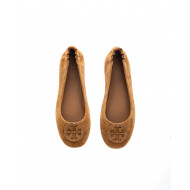 """Mini Travel"" Natural leather ballerinas with logo"