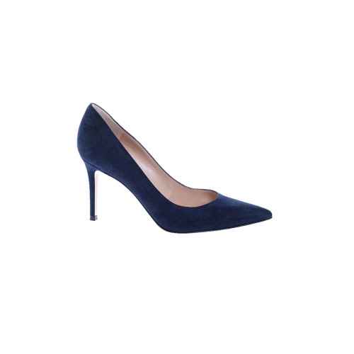 Suede pumps point-toe 85