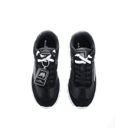 """The Jogger"" Leather and textile sneakers styled ""M"""
