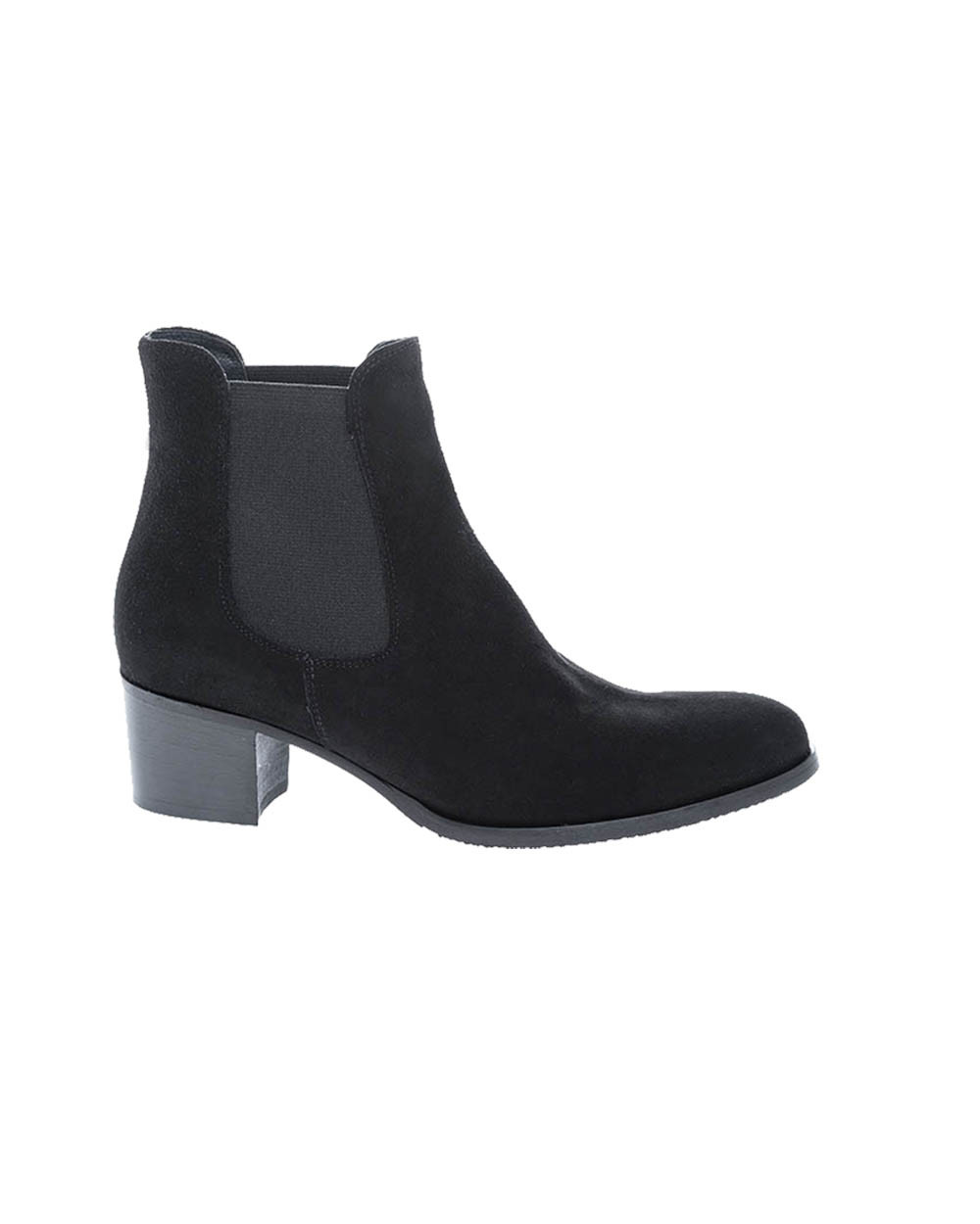 Leather boots with 2 elastics rounded tip 50