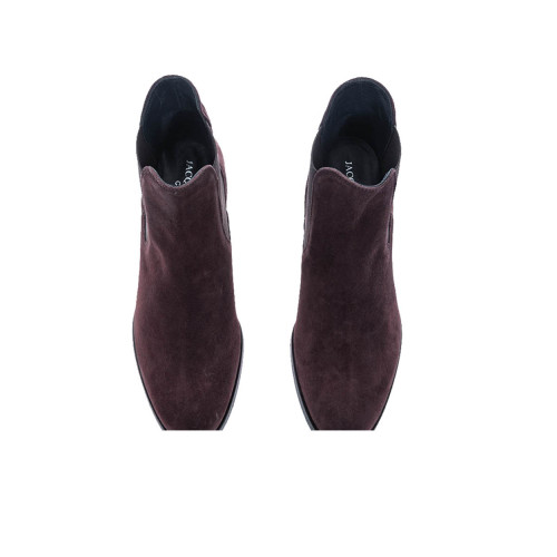 Achat Leather boots rounded tip 2 elastics 50 - Jacques-loup