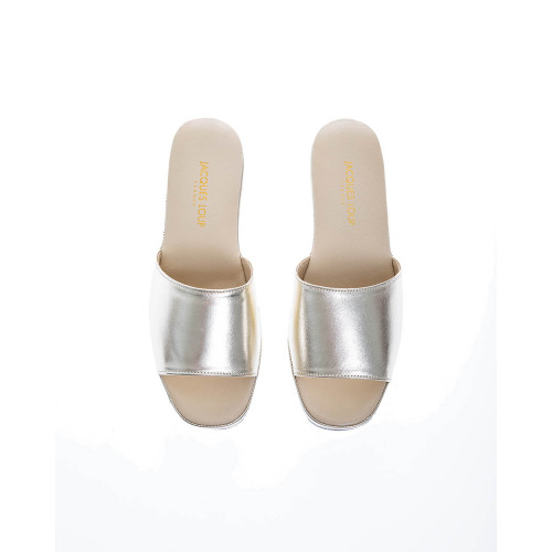 Achat Open-toe metallic leather indoor mules 20 - Jacques-loup