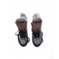 """Trekking Monaco"" Leather boots with fur"