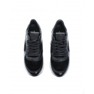 """Montecarlo LD"" Leather sneakers with wrinkled varnish"