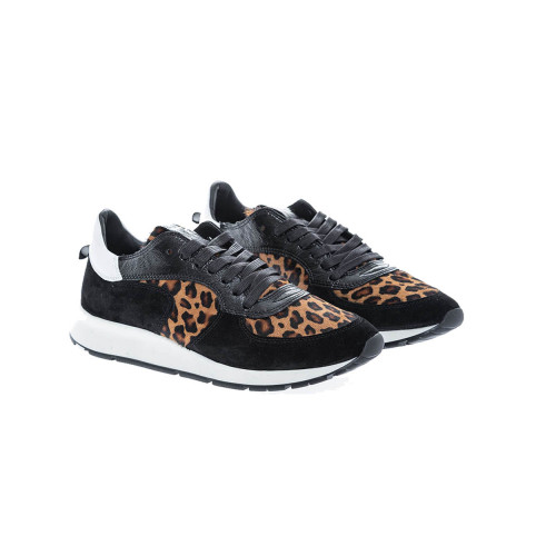 """Montecarlo"" Sneakers with leopard print"