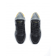 """Tropez X LD"" Leather sneakers metal golden buttress"
