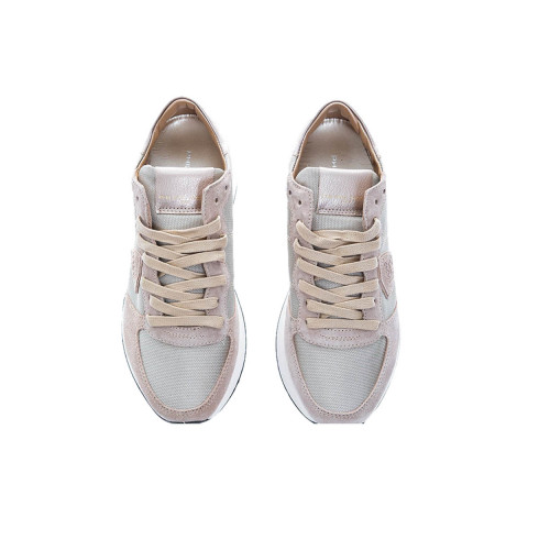 """Tropez X LD"" Leather sneakers metal beige buttress"