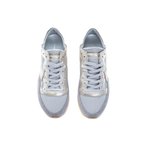 Achat Tropez LD Leather sneakers with light gold finish - Jacques-loup