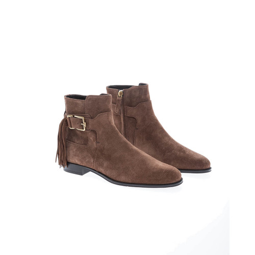 Achat Tronchetto Frangia split leather boots with zipper - Jacques-loup